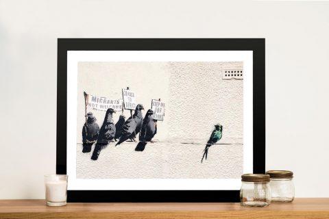 Banksy Migrant Birds Framed Wall Art