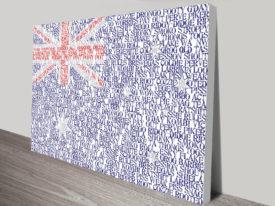 Australian Flag Art canvas print