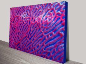 Abstract Coral Canvas Wall Art
