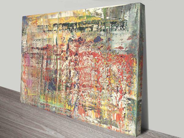 Abstraktes Bild Gerhard Richter Print