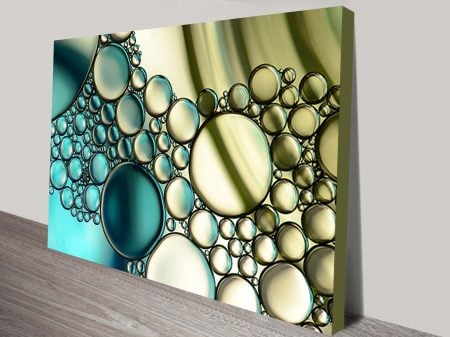 Abstract Bubbles Canvas Wall Art