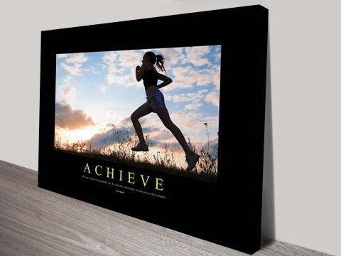 Buy Achieve Motivational Canvas Wall Art AU
