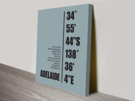 Adelaide Duck Egg Blue Coordinates Geography Decorative Wall Art