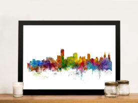 Adelaide Australia Skyline Framed Wall Art Picture