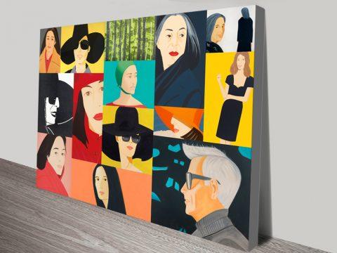 Alex Katz Collage Canvas Pop Art Print