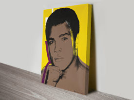 Ali By Andy Warhol Vintage Pop Art Canvas Print