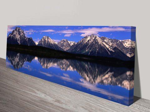 Alpine Lake-Panoramic Photo Canvas Print