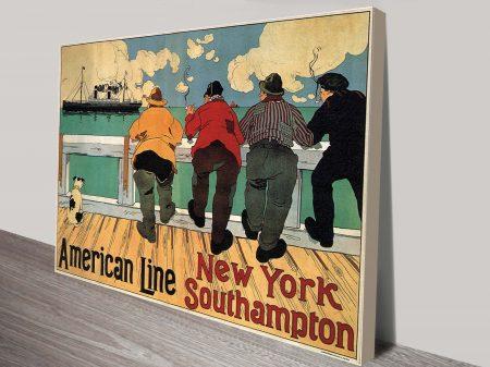 Cruise Ship Vintage Travel Poster