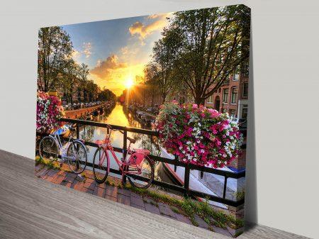 Amsterdam Canal Wall Art Print