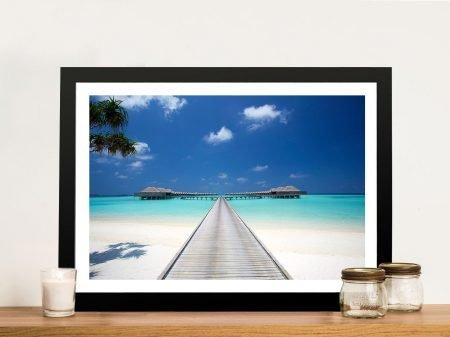 Anantara boardwalk Maldives Framed Wall Art