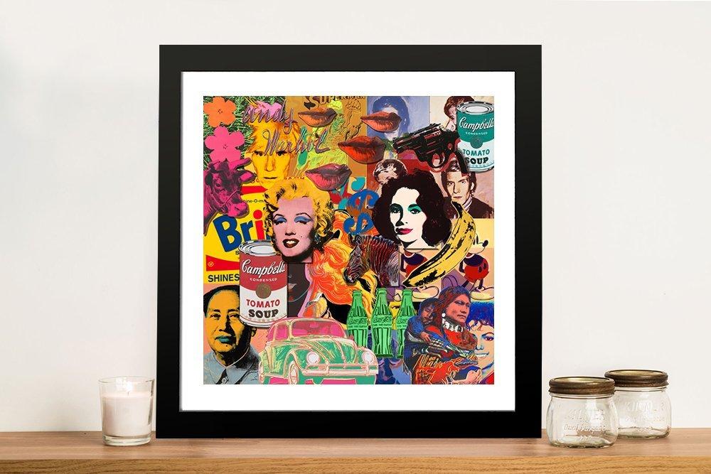 andy warhol collage pop art prints posters australia