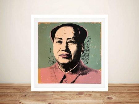 Andy Warhol Mao Framed Pop Art Print