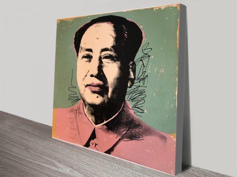 Andy Warhol Mao 1972 Canvas Print
