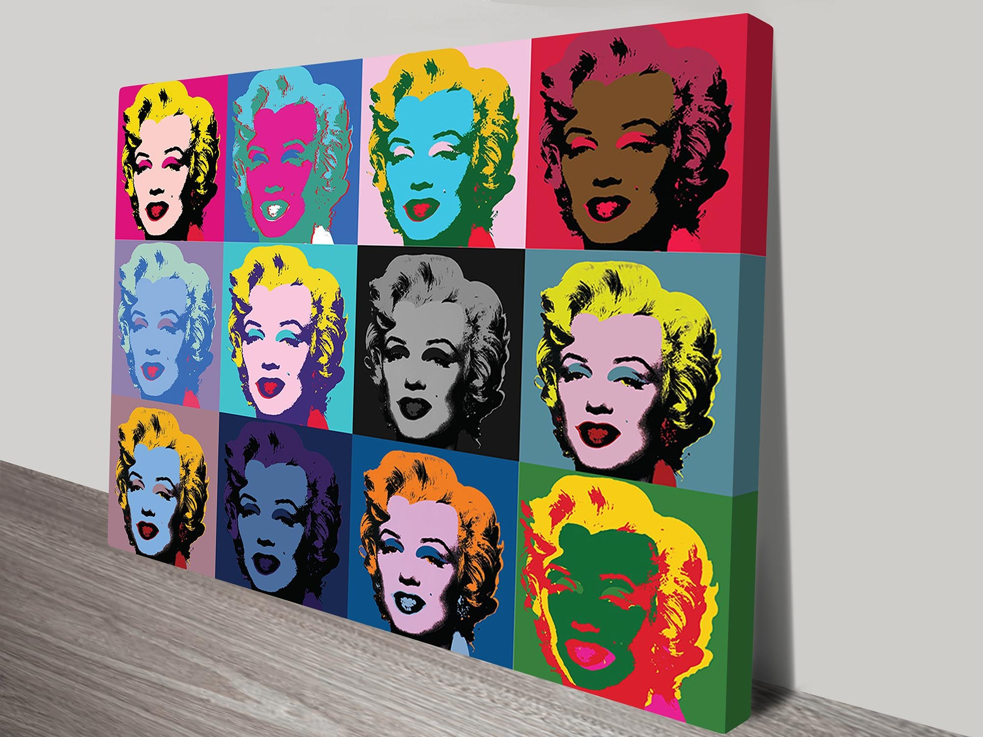 andy warhol marilyn monroe canvas print landscape format. Black Bedroom Furniture Sets. Home Design Ideas