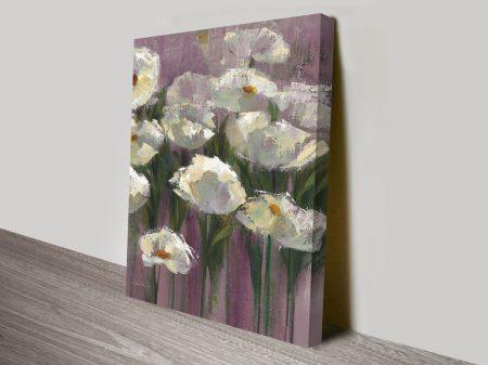 Anemones by the Lake Purple III Canvas Art Print