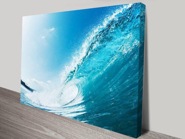 Aqua Barrels wave art