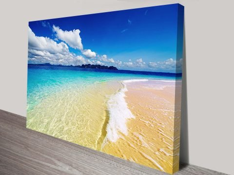 Aquatopia Seascape Surf Wall Canvas