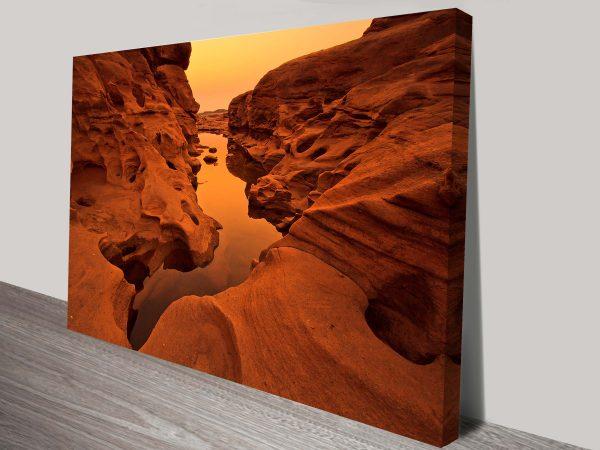 Arizona Rock Pool Photo on Canvas