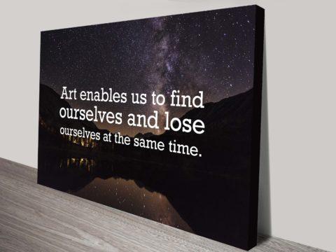 art quote canvas print australia