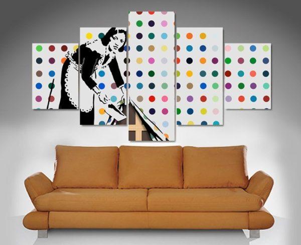 Banksy Keeping It Spotless 5-Panel Artwork
