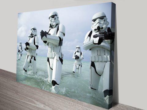 Assault on Kamino Star Wars Wall Art