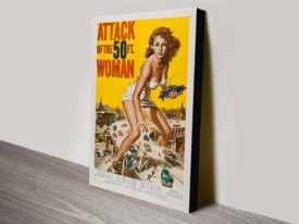 Attack of the 50 Foot women canvas art