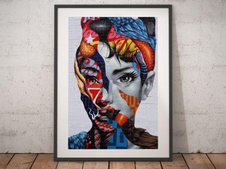 Audrey Hepburn Graffiti Street Wall Art Prints