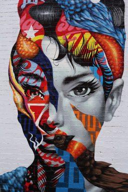 Audrey Hepburn Graffiti Street Wall Art Prints Sydney Australia