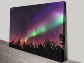 Aurora Borealis Pink & Green Canvas on Prints Norway