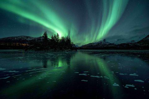 Aurora Borealis Northern Lights Iceland Photographic Print
