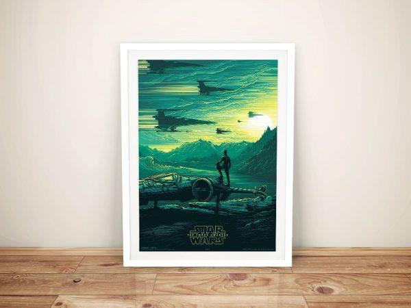 The Force Awakens Framed Star Wars Poster