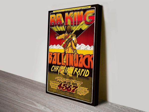B.B King Concert Poster Prints for Sale Online