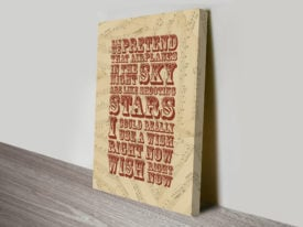 BOB Airplanes Song Lyrics Canvas Wall Art