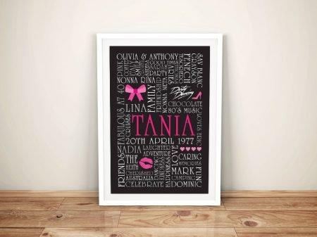 Word Art Gift idea for Girls