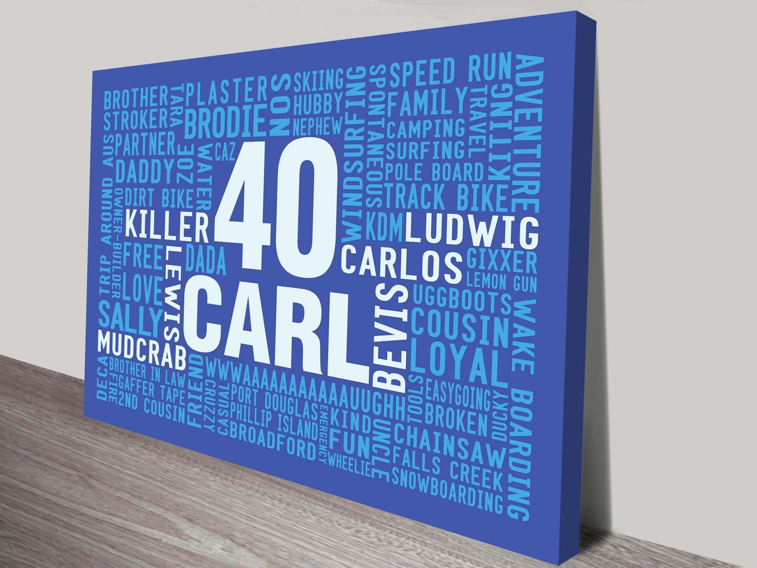 Bespoke Birthday Word Art Gifts