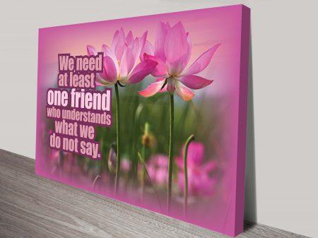 Friendship Word Art Inspiring Quotes