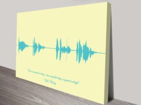 Design your own Custom Soundwave Wall Art