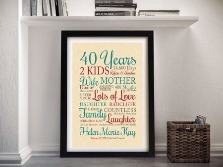 Our Life Together Bespoke Word Art Gifts