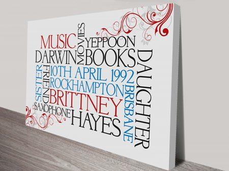 Personalised Word Typographic Art