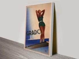 Grado Art Deco Vintage Travel Poster