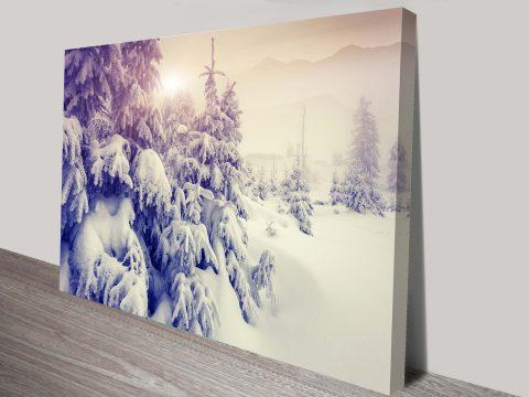 Winters Deep Snowy Canvas Print