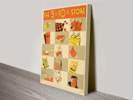 5-10c store-vintage advertising poster canvas