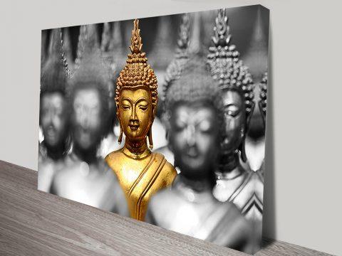 A Splash Of Gold Buddha Spirituality Art