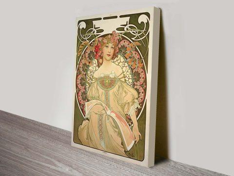 Alphonse Mucha champagne-art nouveau poster wall art