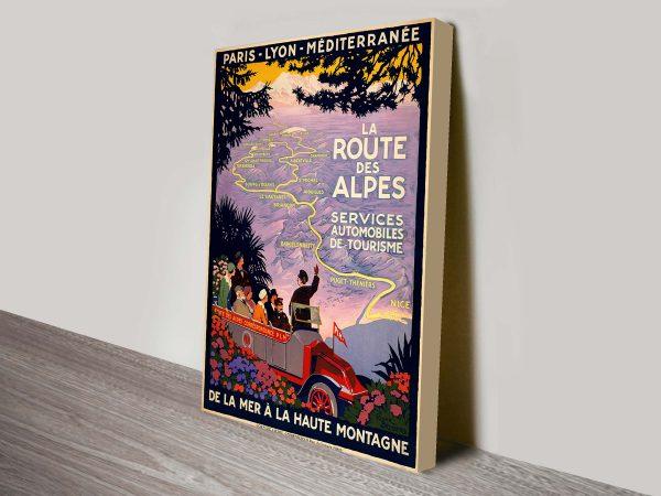 Alpes Vintage Poster Canvas