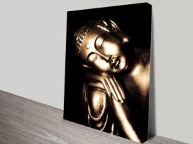 Black and Gold Buddha Canvas Art
