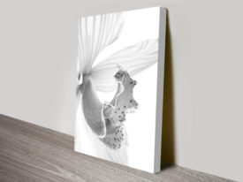 Orchid in Grey 2 Black and White Canvas Print