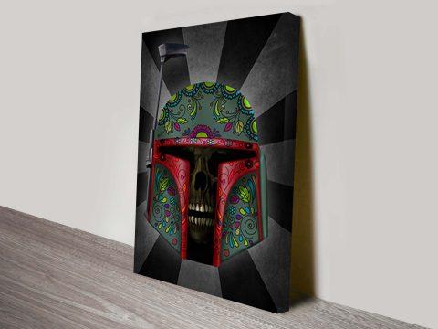 Boba Fett Dia De Los Muertos Star Wars Art