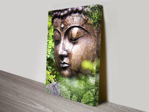 Buddha brush tones canvas art