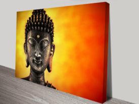 Buddha Head Canvas Art Print